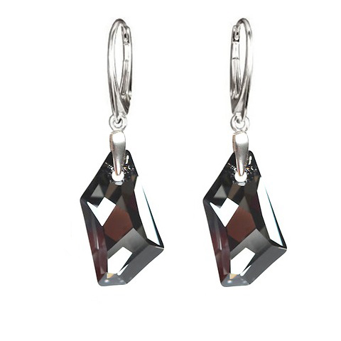 Earrings Swarovski BASIC - De Art Silver Night