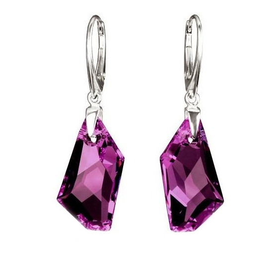 Earrings Swarovski BASIC - De Art Amethyst