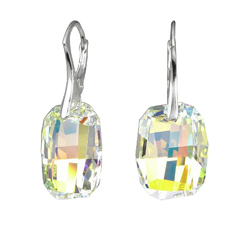 Earrings Swarovski BASIC - Graphic, Aurora Boreale