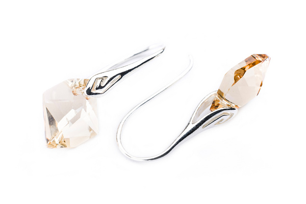 Earrings Swarovski BASIC - Cosmic S Golden Shadow