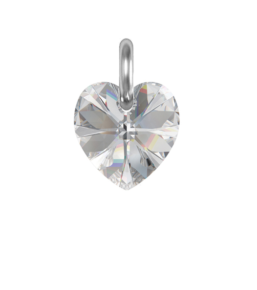Obesek Swarovski BASIC - Xilion Heart 10 mm, Crystal