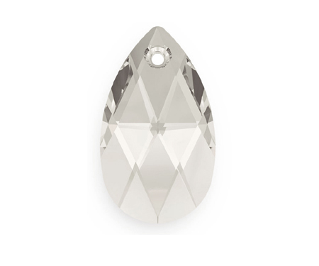 Swarovski PEAR PENDANT 6106 22mm, Silver Shade