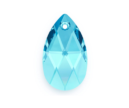 Swarovski PEAR PENDANT 6106 22mm, Aquamarine