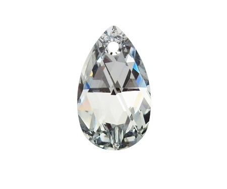 Swarovski PEAR PENDANT 6106 22mm, Argent Light