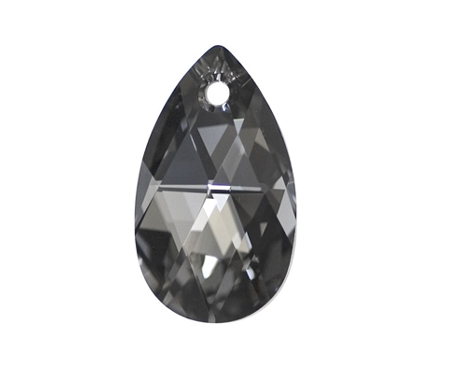 Swarovski PEAR PENDANT 6106 22mm, Silver Night