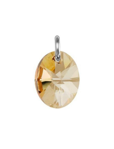 Obesek Swarovski BASIC - Oval Pendant, Golden Shadow