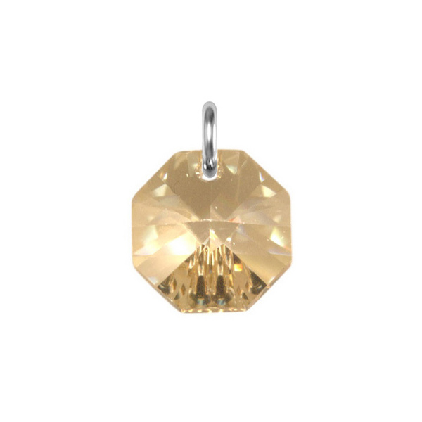Obesek Swarovski BASIC - Octagon Pendant, Golden Shadow